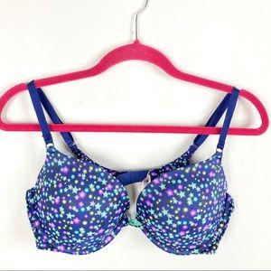 Victoria's Secret Blue Stars 2 Way Push Up Bra